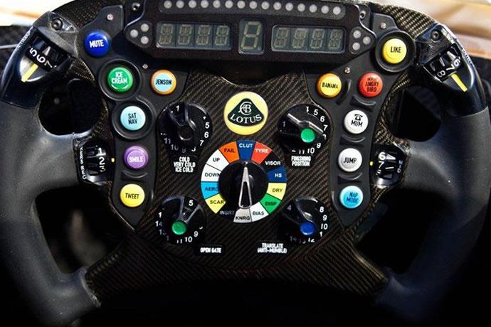 Kimi Raikkonen's Steering Wheel