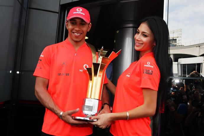 Lewis Hamilton and Nicole Sherzinger